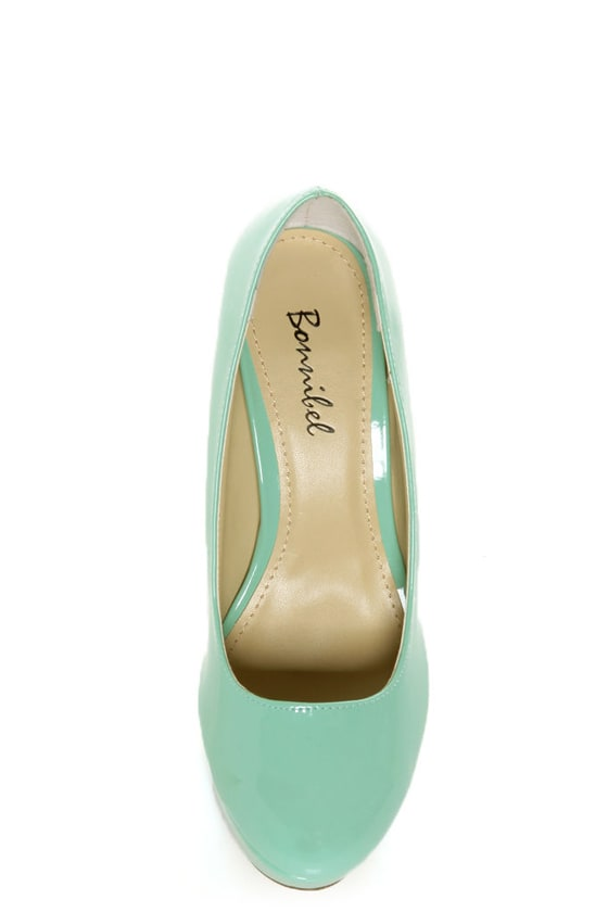 Bonnibel Monique 1N Mint Patent Platform Pumps