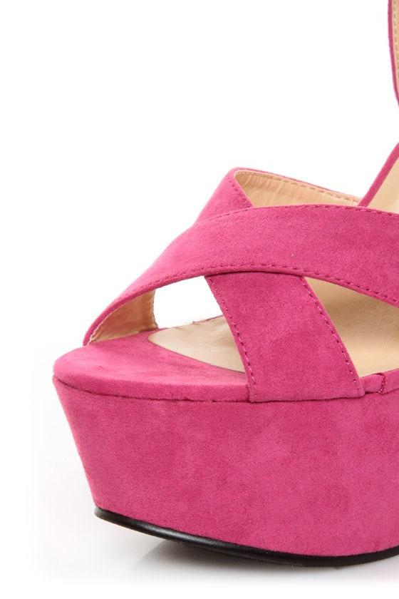 Bonnibel Portia 1 Hot Pink Platform Sandals