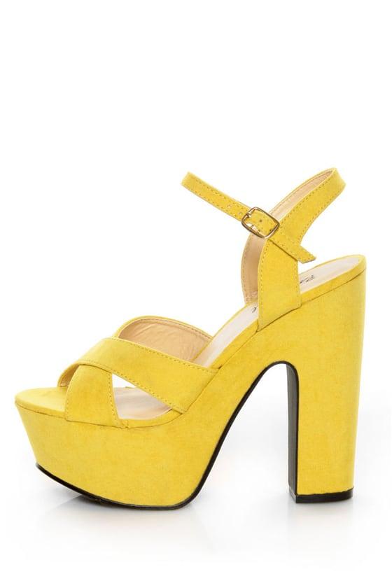 d7e58ea384 Bonnibel Portia 1 Yellow Platform Sandals - $34.00