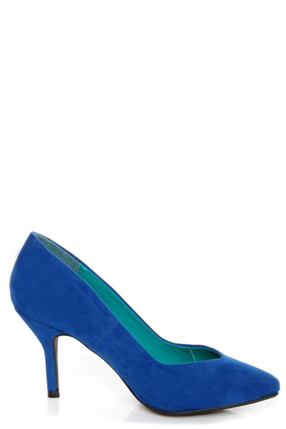 Bamboo Deluxe 01 Blue Pointed Pumps at Lulus.com!