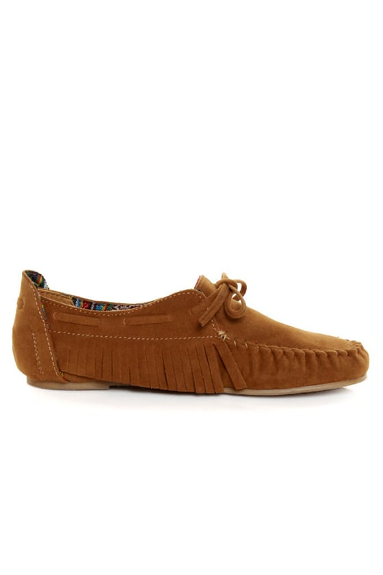 Bamboo Friends 09 Chestnut Fringe Moccasin Booties