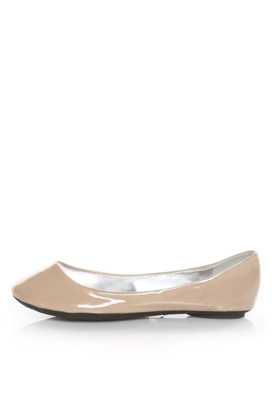 Bamboo Hunter 51 Blush Pink Patent Ballet Flats