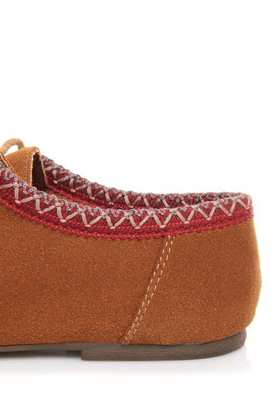 Bamboo Palazzo 01 Chestnut Lace-Up Moccasin Booties