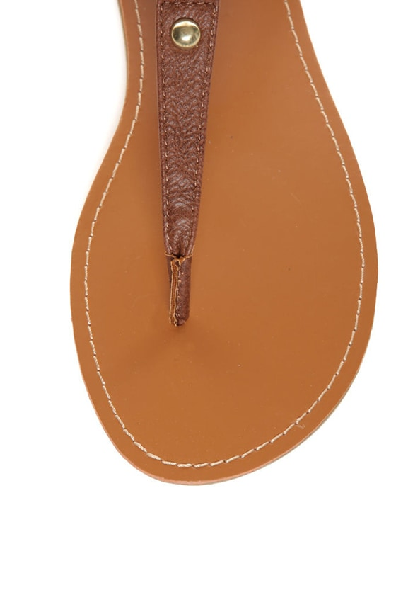 Bamboo Sloane 10 Chestnut and Neon Yellow Thong Sandals at Lulus.com!