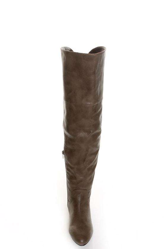 bamboo zoria 48 taupe otk flat boots 46 00