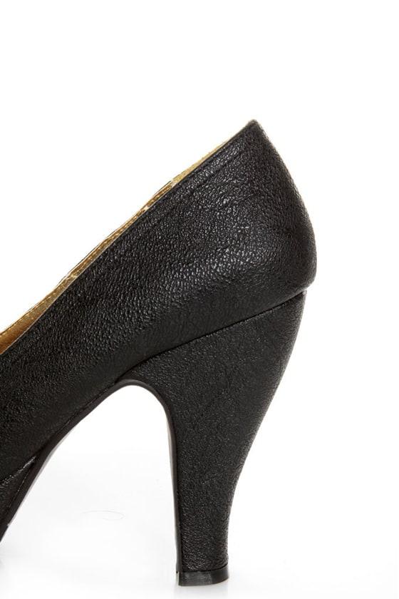 B.A.I.T. Patricia Black Penny Loafer Platform Heels