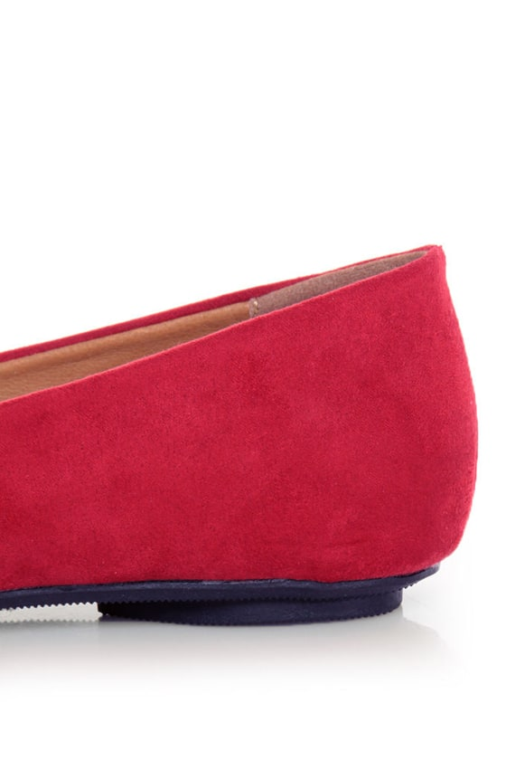 City Classified Hi Lipstick Red Tassel Ballet Flats