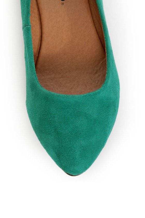 City Classified Sadler Dark Teal Pointed Flats