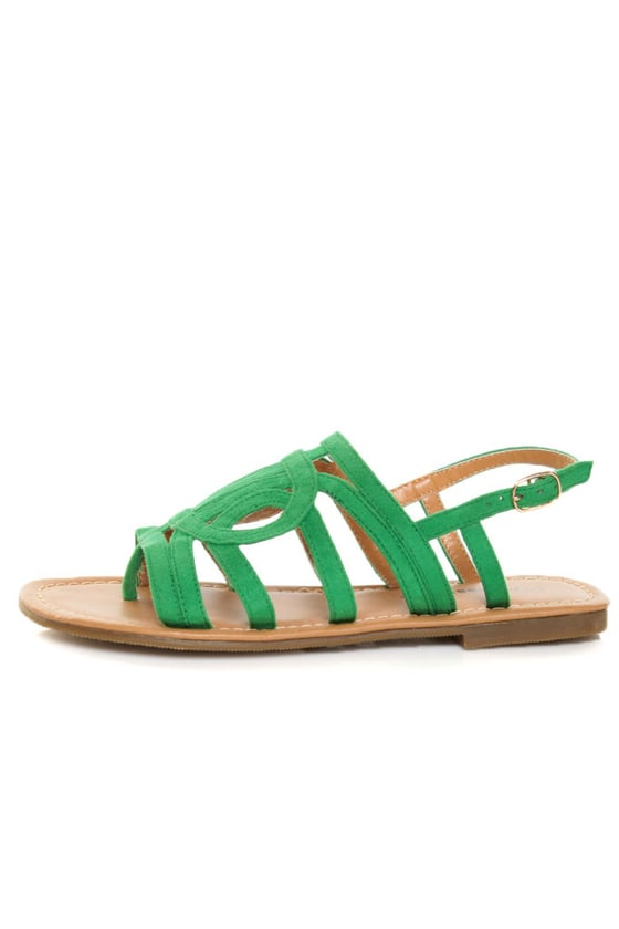 City Classified Tada Kelly Green Loopy Strapped Thong Sandals