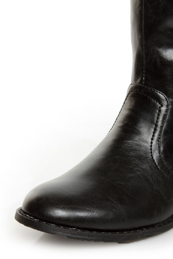 C Label Alexis 16 Black Unzipped Riding Boots