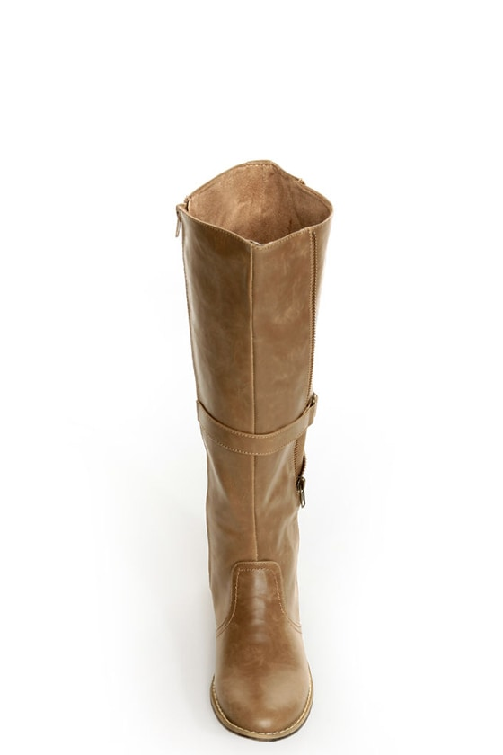 C Label Alexis 16 Taupe Unzipped Riding Boots