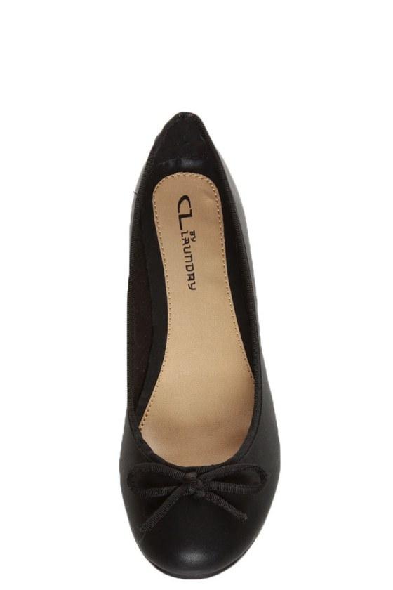CL by Laundry Get Down Super Soft Black Ballet Flats