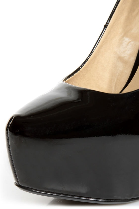 Chinese Laundry Perfect Ten Patent Black Pointed Platform Heels