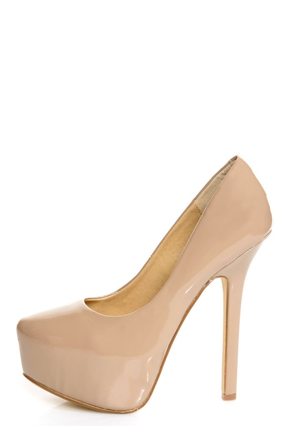 5e331ebd07 Chinese Laundry Perfect Ten Patent Nude Pointed Platform Heels - $73.00