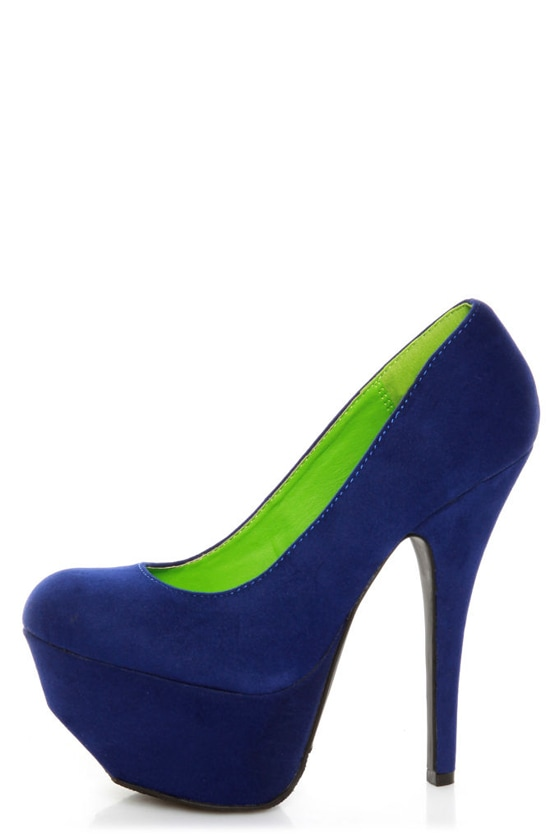 Dollhouse Kammy Blue Super Platform Heels
