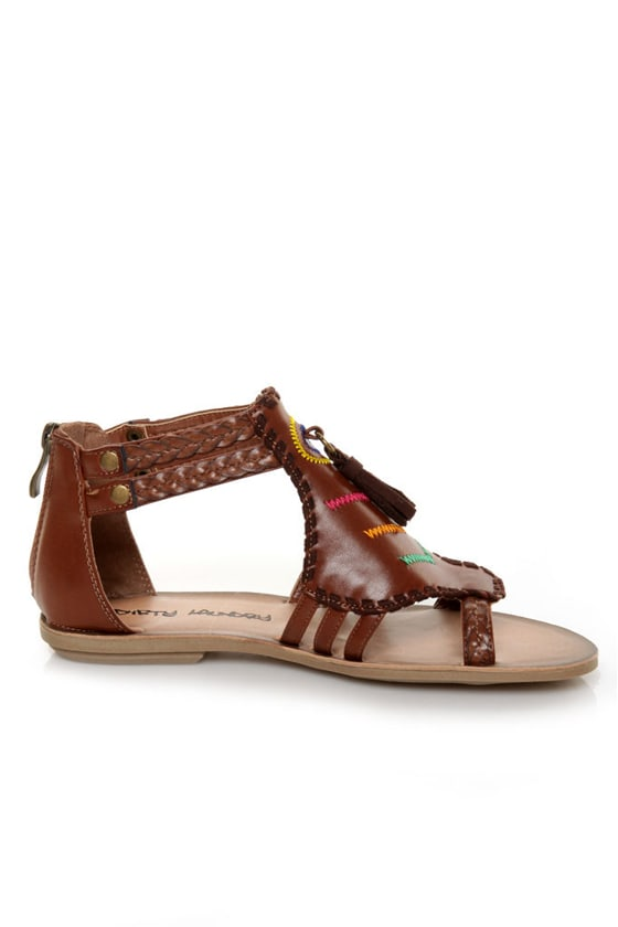 Dirty Laundry Bottom Line Rich Brown Embellished Sandals