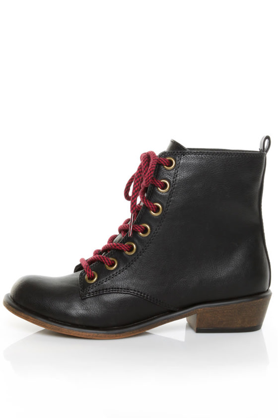 Dirty Laundry Preview Tumble Black Lace-Up Ankle Boots