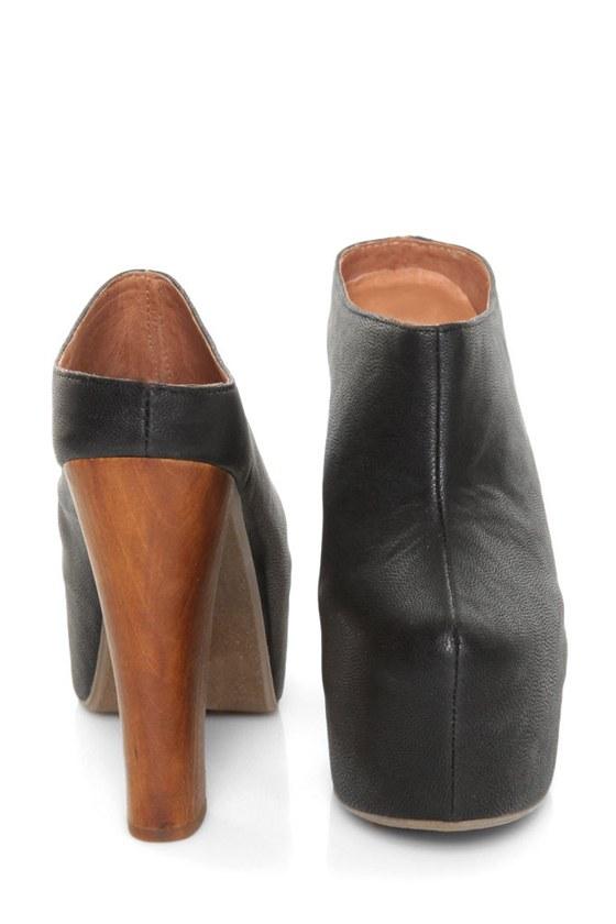 Enigma Clog Monet Black Platform Heels