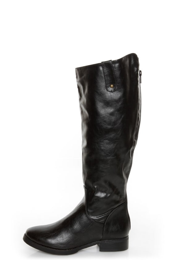 Fahrenheit Rooney 3 Black Knee High Riding Boots