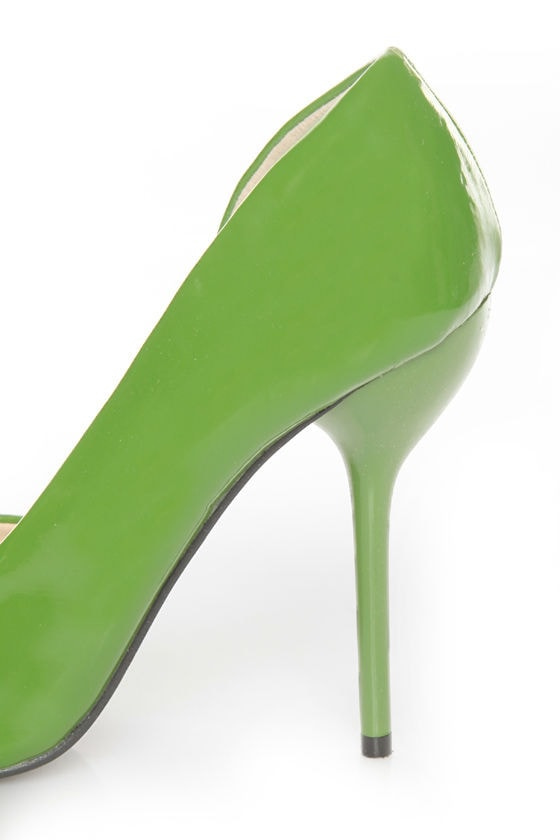 Fahrenheit Zara 01 Green Patent Pointed D\\\\\\\\\\\\\\\'Orsay Pumps