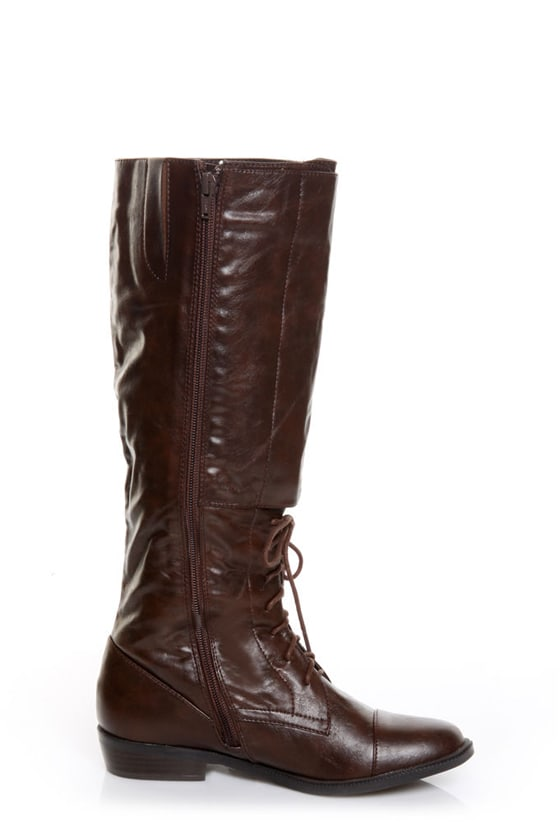 GoMax Concorde 07 Brown Belts & Laces Knee High Boots