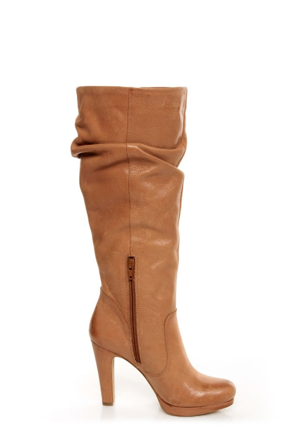Jessica Simpson Keaton Tan Winter Haze Slouchy High Heel Boots