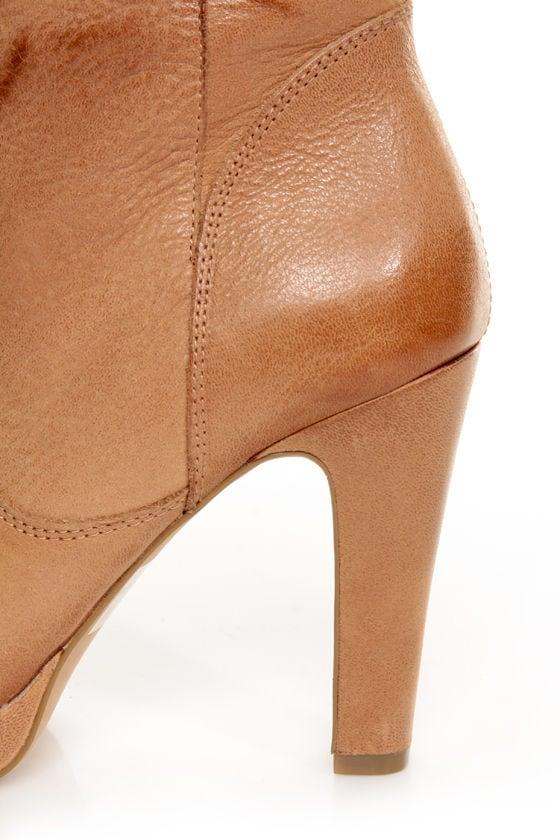 Jessica Simpson Keaton Tan Winter Haze Slouchy High Heel Boots