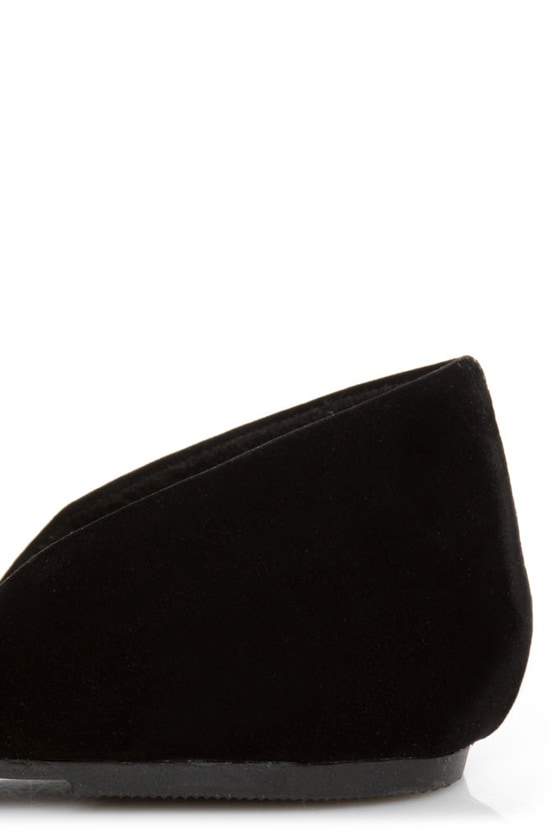 Kierra 2 Black Buckle D'Orsay Flats at Lulus.com!