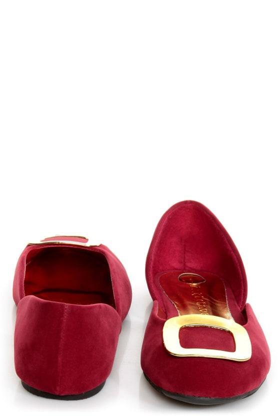 Kierra 2 Red Buckle D\\\\\\\'Orsay Flats