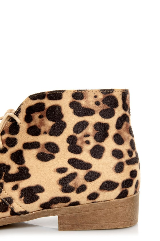 Madden Girl Dontee Leopard Print Lace-Up Desert Boots at Lulus.com!