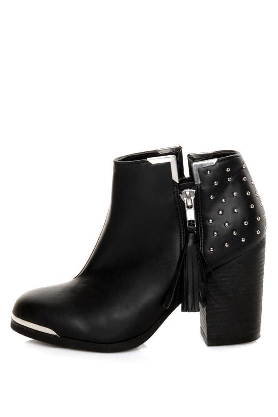 MTNG Fullu Black Studded Ankle Boots - $77.00