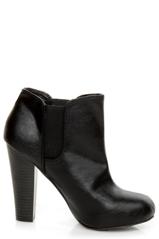 Madden Girl Zelouss Black High Heel Ankle Boots