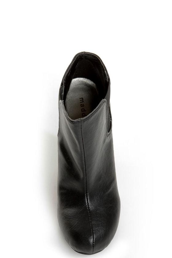 Madden Girl Zelouss Black High Heel Ankle Boots