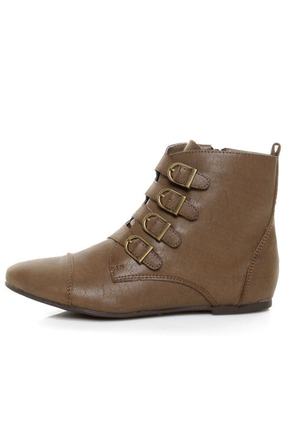 Miss Me Emmah 9 Brown Belted Ankle Boots