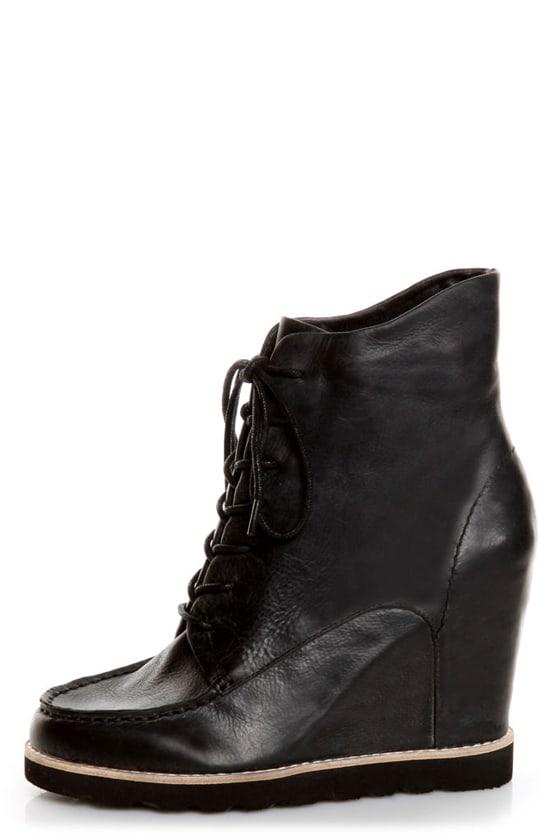 Matiko Cooper Black Leather Lace-Up