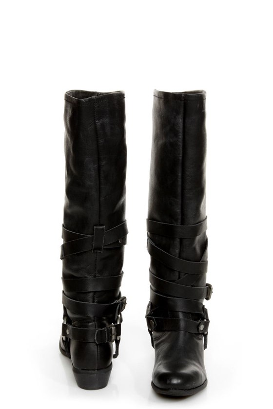Naughty Monkey Desperado Black Belted Motorcycle Boots