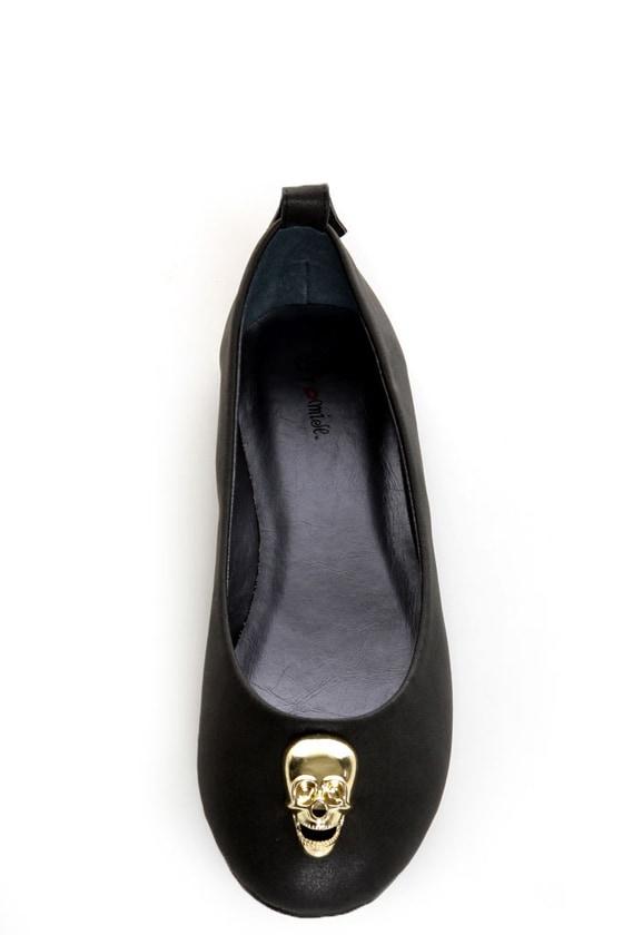 Promise Barbosa Black Skull Charm Ballet Flats at Lulus.com!