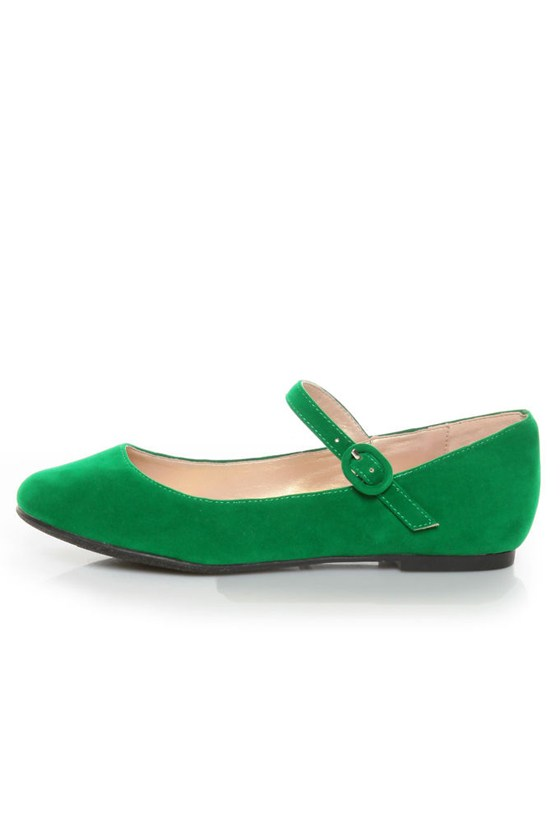 Promise Sakova Jade Green Mary Jane Ballet Flats