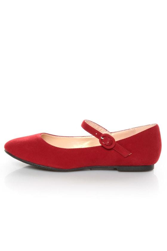 Promise Sakova Red Mary Jane Ballet Flats -  21.00