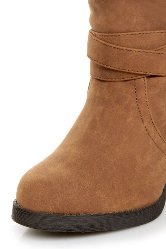 Qupid Rosdale 11 Camel Tapestry Convertible Boots