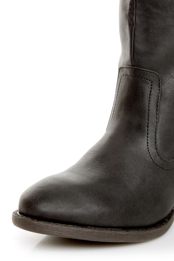 Qupid Trevor 02 Black Classic Knee High Riding Boots at Lulus.com!