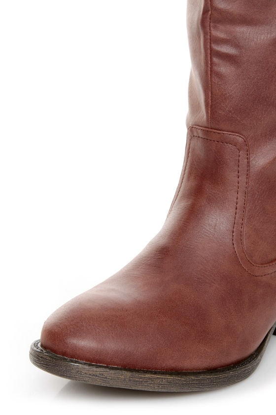 Qupid Trevor 02 Cognac Brown Classic Knee High Riding Boots at Lulus.com!