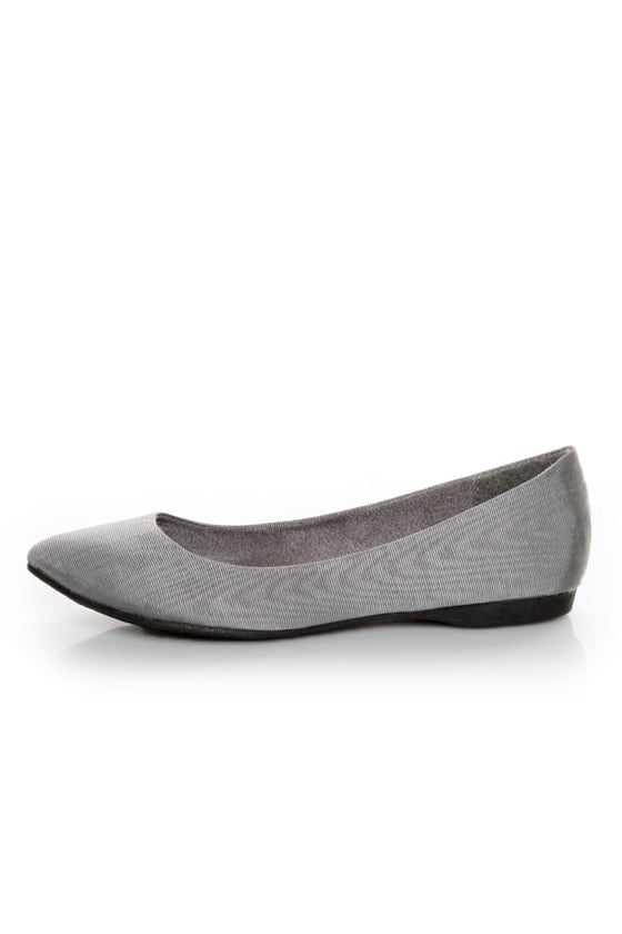 Rocket Dog Chamay Grey Watered Silk Pointed Flats