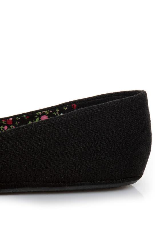 Soda Afar Black Linen Ballet Flats at Lulus.com!