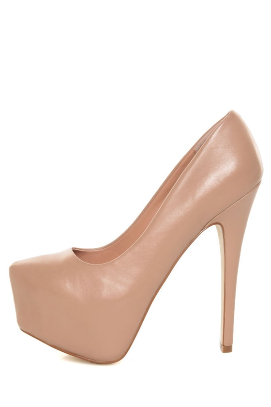 4f6b7a70383 Steve Madden Dejavu Blush Leather Platform Pumps -  129.00