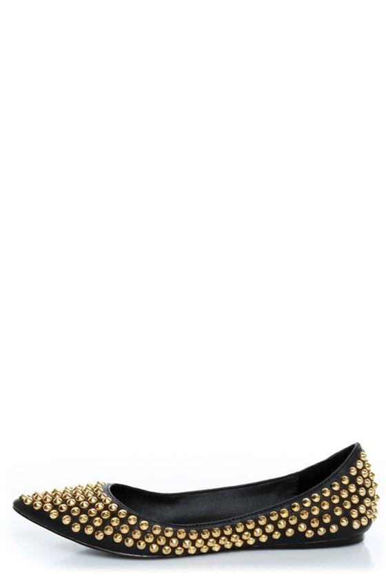 Steve Madden Extraa Black Gold Studded