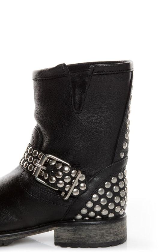Steve Madden Fraankie Black Studded Ankle Boots