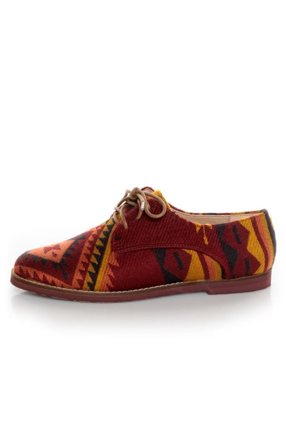 Steve Madden Jazie Aztec Multi Southwestern Oxfords at Lulus.com!