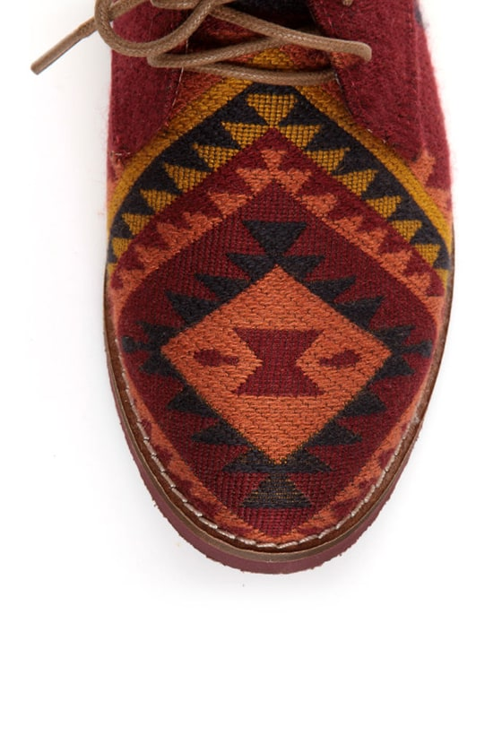 Steve Madden Jazie Aztec Multi Southwestern Oxfords