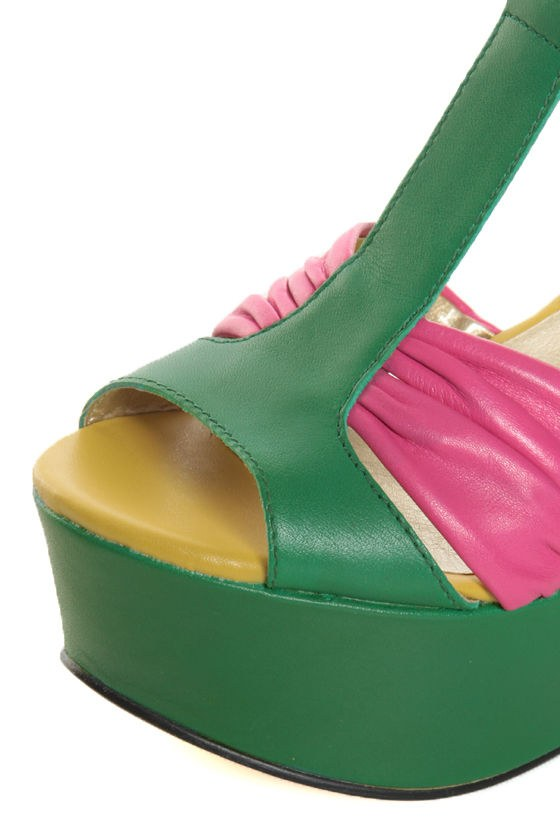 Seychelles You\\\'ll Never Know Emerald Color Block Wedge Sandals